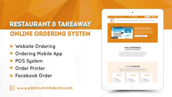 restaurant and takeaway website design